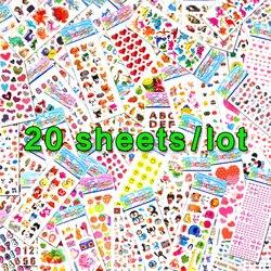 20 blätter/Lots Großhandel Scrapbooking Blase Puffy Aufkleber Kawaii Emoji Belohnung Kinder Spielzeug Für Kinder Fabrik Direkt Verkäufe 1-m20