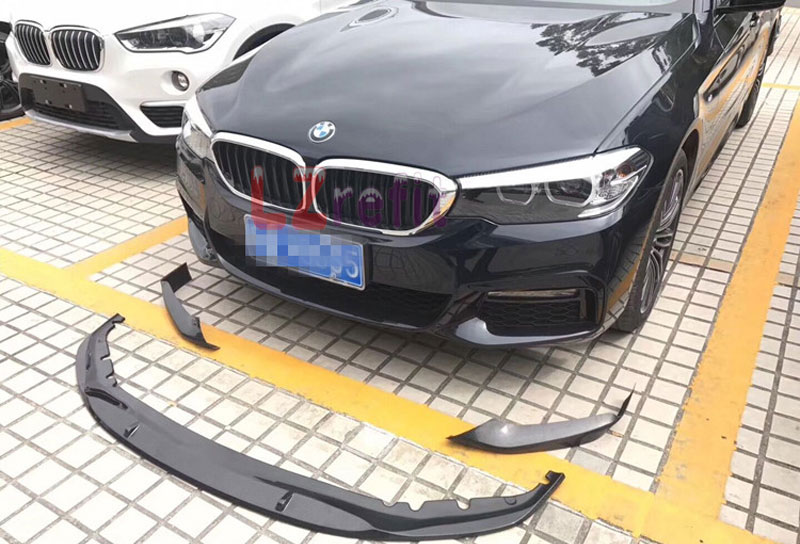 P Style Real Carbon Fiber Front Lip Spoiler 1pair For BMW 5-Series G30 2017UP