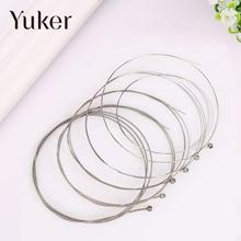 Yuker 6 Pcs Distinguish Classical Clear Steel Strings Acoustic electric Guitar Musical Accessories