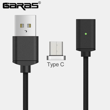 GARAS USB Type C/USB C Magnetic Cable Fast Charger Type C/USB-C Charger Data Magnet Cable For Xiaomi/Huawei Mobile Phone Cables