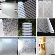 Glue free Static Cling Glass Film Window Sticker House Privacy Self-adhesive Film Frosted Bathroom Home Decorative Vinyl Films hot sale shenzhen decorative films car rear window vinyl decal graphic wrap reusable adhesive see through sticker with free ship