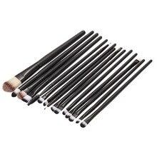 15 PCS Professional Makeup Brushes Set Eyeshadow Eyeliner Eyebrow Blush Foundation Brush Cosmetics Make Up Brushes Wood Handle