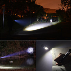 Image 5 - 3800LM XML Q5 + COBแบบพกพาBright Bright LED Handheld LEDไฟฉายปรับโฟกัสซูมMINIไฟฉายใช้แบตเตอรี่AA 14500