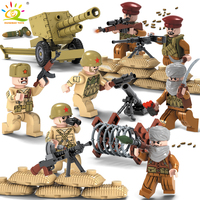 1979 Warfire Military Army Soldiers Weapons Guns Figure WW2 Swat Team Building Blocks Compatible Legoed City