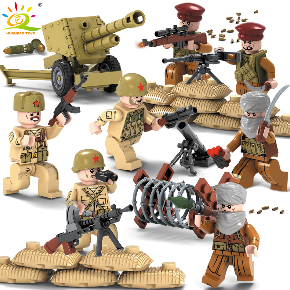 1979 warfire Military Army soldiers Weapons Guns Figure WW2 Swat Team building Blocks Compatible Legoed City Police Children Toy military city police swat team army soldiers with weapons ww2 building blocks toys for children gift