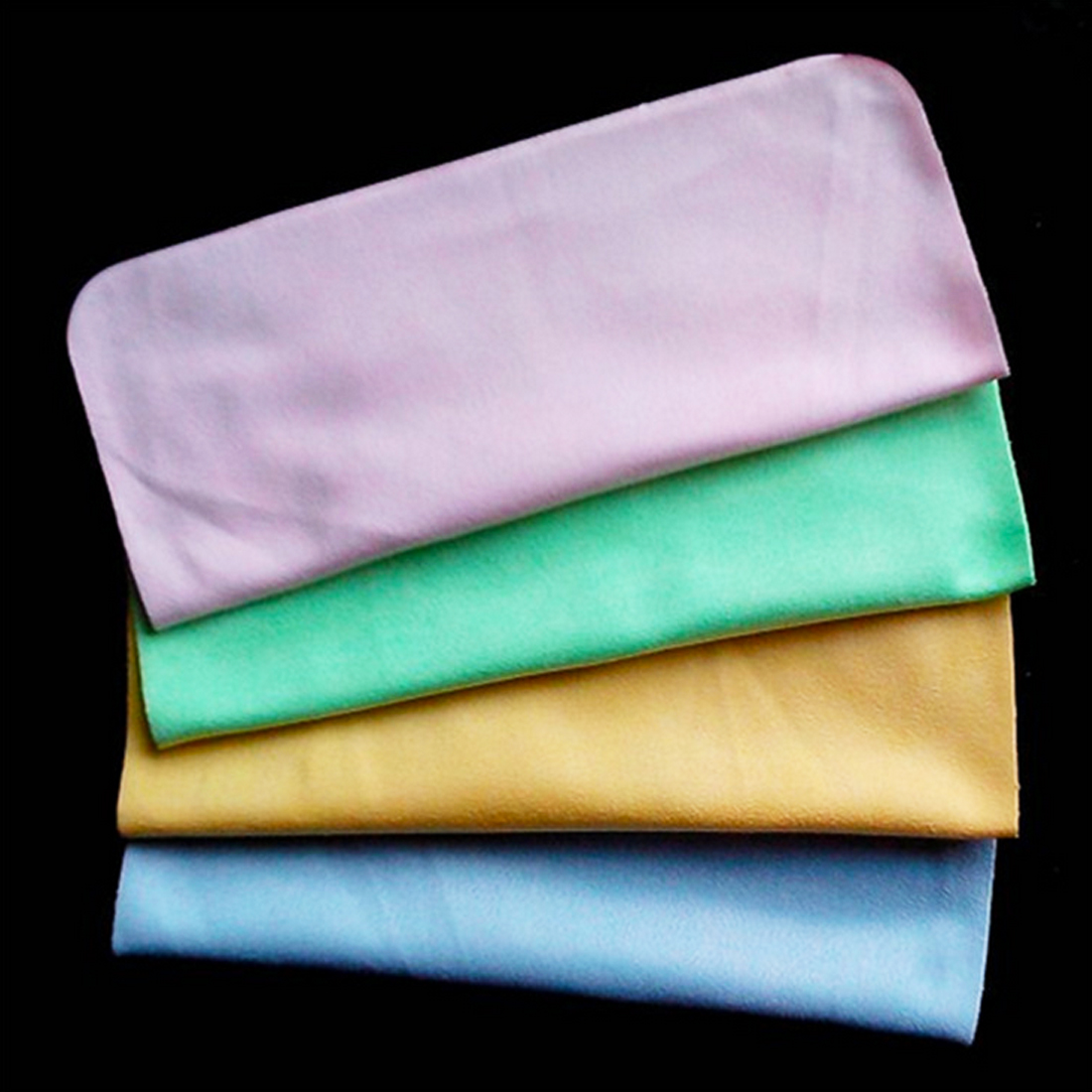Microfiber Cloth Or Chamois: 1PC Chamois Glasses Cleaner 180*150mm Microfiber Glasses