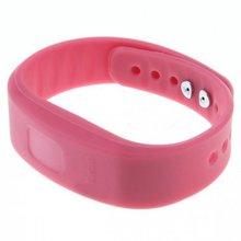 YCYS-USB Bluetooth Llamada Entrante Vibración de Alerta de Alarma anti-perdida Band Pulsera de iones de litio polímero de litio con indicador LED rosa