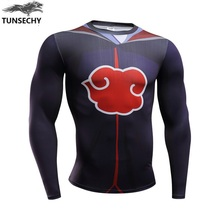 Naruto Bodybuilding Long Sleeve Fitness Compression T-shirts For Men