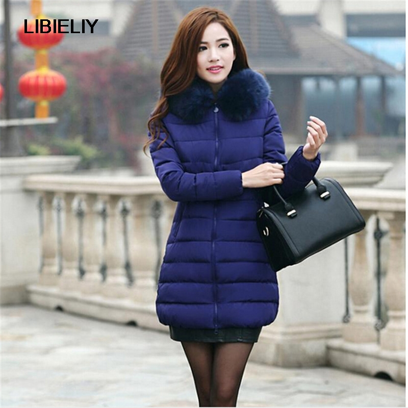 Women's Winter Coat New Parkas Female Thick Down Padded Cotton Jacket Women Long Outwear Plus Size Casual Jacket Coat C1251 2017 winter women coat warm down cotton padded jacket thick hooded outwear plus size parkas female loose medium long coats