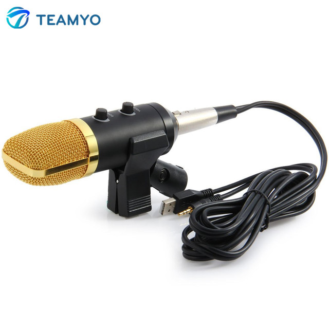 Высокое Качество USB Конденсатор Звукозаписи Микрофон с Подставкой для Радио Braodcasting Чате Пение Записи Skype