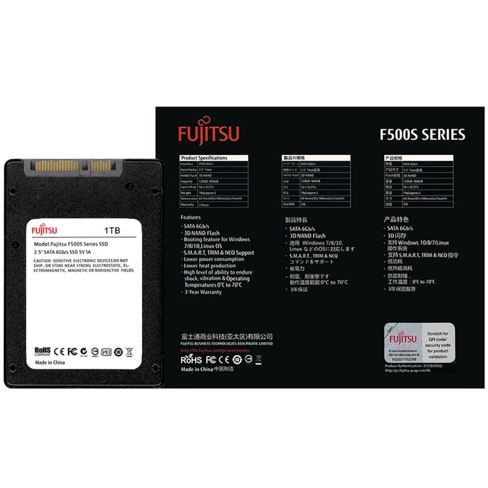 "FUJITSU 2.5"" ssd 1tb sata3 ssd 1024G 3D NAND Flash SMI/Phison/Realtek TLC ssd hard drive Solid State Drives for desktop laptop 26"