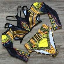 2019 бразильский комплект бикини с высокой талией Африканский
