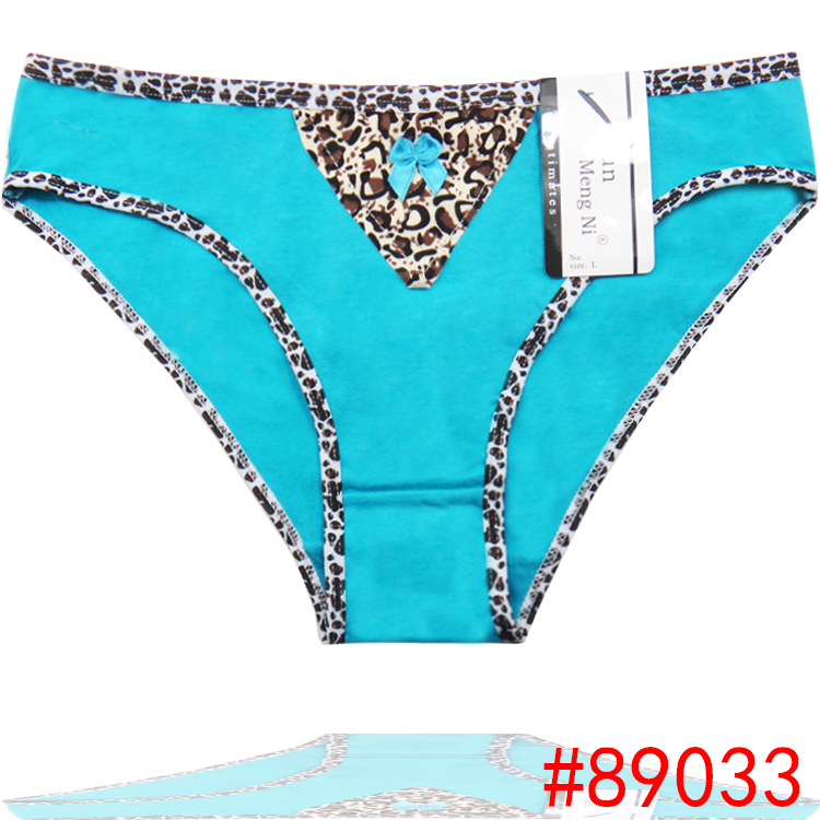4884c0ee73b Promotion Leopard Lady Bikini Underwear Soft Cotton Short Brief Stretch  Lady Panties Women Boyshort lingerie Intimate Underpants-in women s panties  from ...