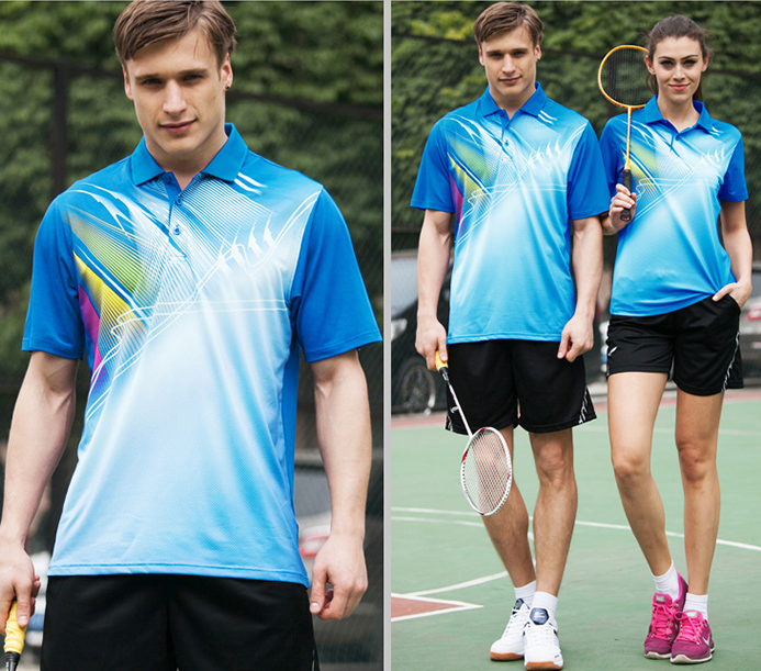 Badminton-Shirts Table-Tennis Ping-Pong-Ball-Tops Man Men Quick-Dry Male Sports Young