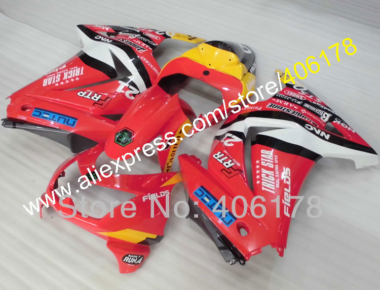 Hot Sales,08 09 10 11 12 Ninja 250R fairing For Kawasaki ZX250R 2008-2012 Red Yellow Sportbike Fairing Kit (Injection molding) hot sales for kawasaki fairing zx 6r ninja 2009 2010 2011 2012 zx6r 09 10 11 12 green black cowling zx6 636 injection molding
