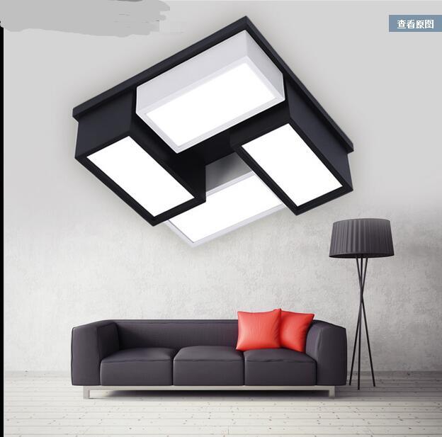 Moderne büro deckenbeleuchtung Schwarz/weiß persönlichkeit led lampe ...