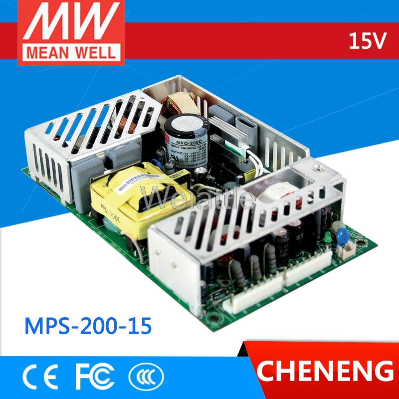 цена на MEAN WELL original MPS-200-15 15V 13.4A meanwell MPS-200 15V 201W Single Output Medical Type