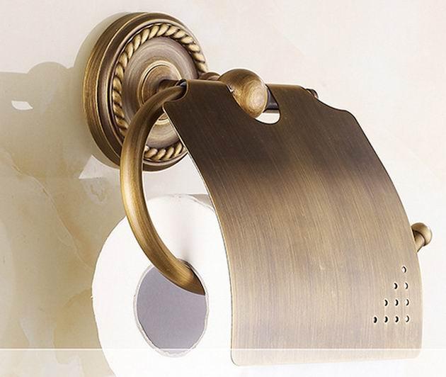 Livraison gratuite bronze Antique finition murale porte-papier porte-papier hygiénique or finition salle de bain accessoires rouleau Holde
