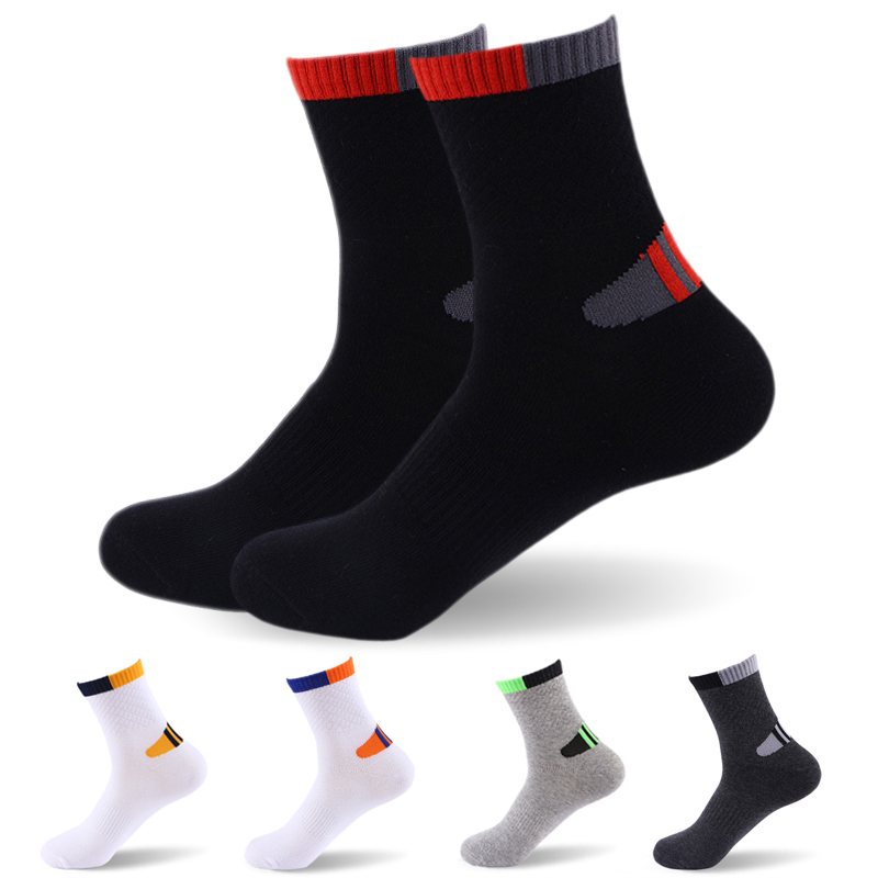 High Quality Professional Men's Socks Comfortable Elasticity Breathable Mountain Trekking Bicycle Cotton Socks For Men Boy
