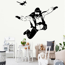 Lovely parachuting Decorative Sticker Waterproof For Kids Room Mural Living Home Decor stickers muraux