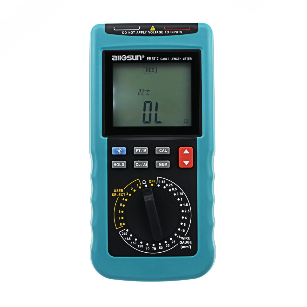 Modern Digital Cable Length Meter PC Data Network LCD Digital Display Automatic Temperature Compensation All-sun EM5812