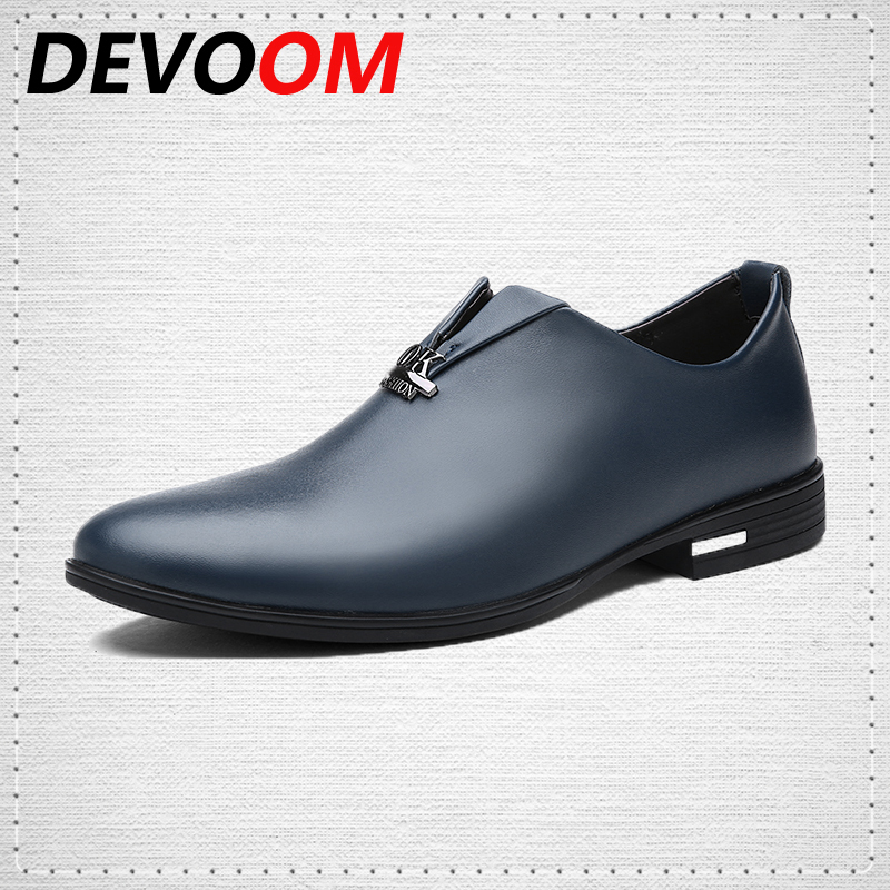 New Fashion Simple Design Men's Shoes,Genuine Leather Oxford Shoes for Men, all Seasons Men's Casual Flat Shoes, BU/BK/RD 2016