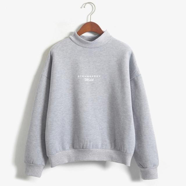 Strawberry Milk Sweatshirts Women Autumn Letters Simple Style Sweet Girl's Hoodies Cute Harajuku Design Kawaii Sweet Hoodies