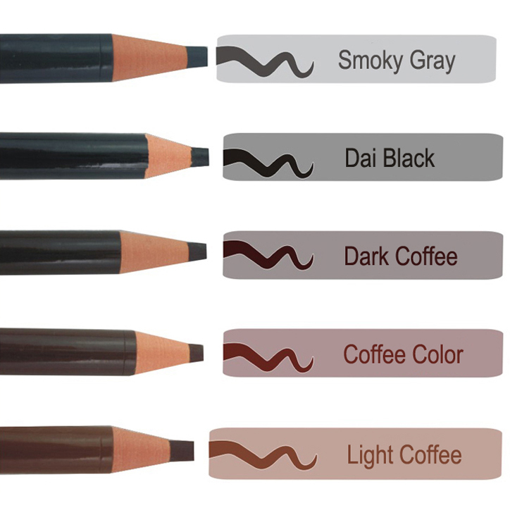 5 Colors Long Lasting Eyebrow Pencil Eye Brow Pen Gray ...