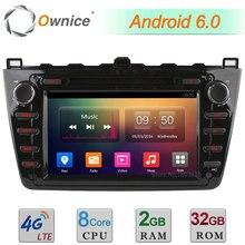 2 GB RAM 32 GB ROM Android 6.0 Octa Core 4G WIFI DAB Bluetooth Reproductor Multimedia de DVD Del Coche de Radio Para Mazda 6 Ultra Ruiyi 2008-2012