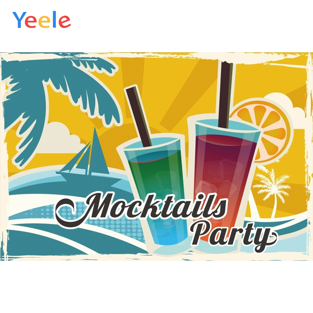 Yeele Mocktails Party Summer Wine Photocall Decor Photography Backdrops Personalized Photographic Backgrounds For Photo Studio