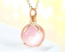 лучшая цена 925 sterling silver pendant female fashion simple new opal four-leaf clover necklace pendant
