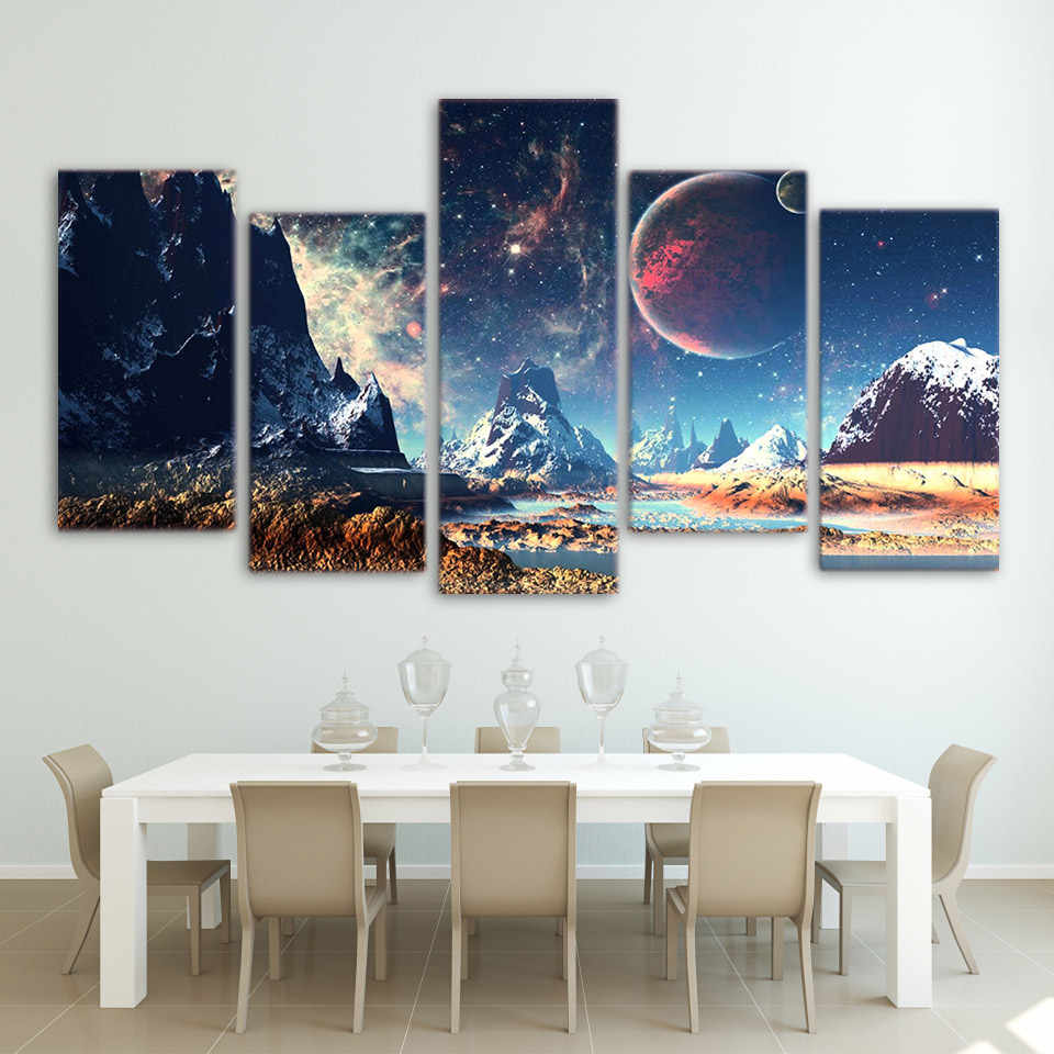 Full Drill 5D Diamond Painting Mountain Planet DIY Cross Stitch Kits Embroidery