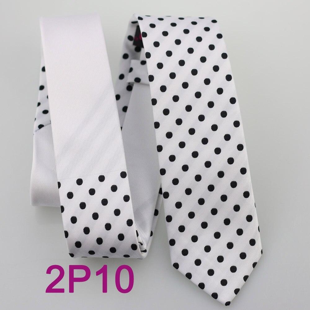 Yibei Coachella галстук белый Галстуки узкий контрастный узел с в черный горошек Gravatas masculinas узкие галстук жаккардовые