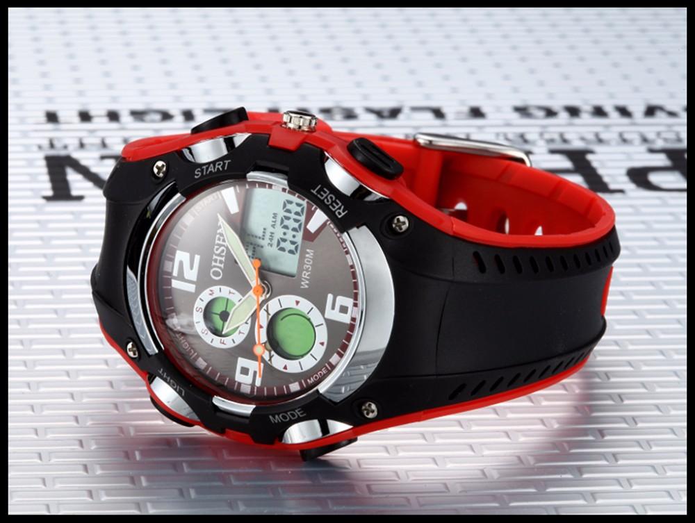 Original Ohsen Brand Fashion Sports Men's Watches 30M Waterproof Rubber Black Rubber Band Digital Sport Wristwatch for Men Gift (37)