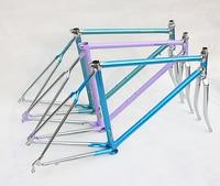 Cuadro de bicicleta Vintage  horquilla retro de bicicleta  cuadro 525/725/853 de piezas de accesorios de bicicleta con marco personalizado  marco de tubo de montura de silicona