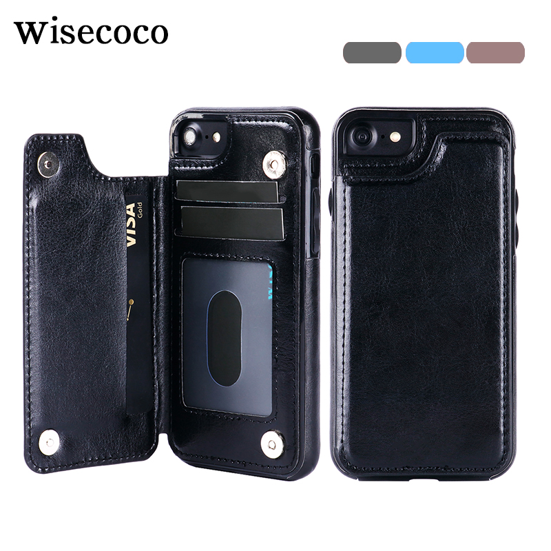 fundas for iPhone 6 6s Wallet Case with Card Slots Leather Luxury Magnetic Flip Holder Stand Cover for iPhone 6 6s plus coque