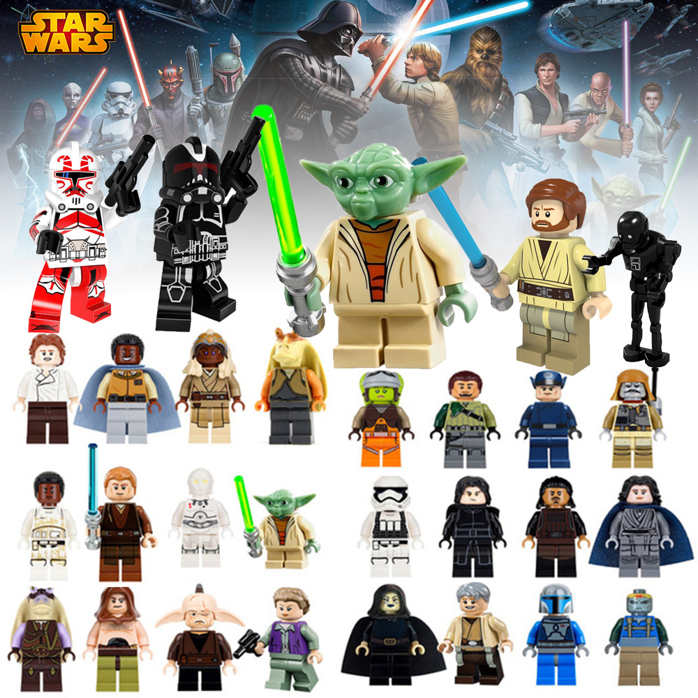Hot legoing Mavel Bricks building blocks Star Wars Super Heros Obi Wan Educational Kids DIY Figures model Free Shipping JZ25