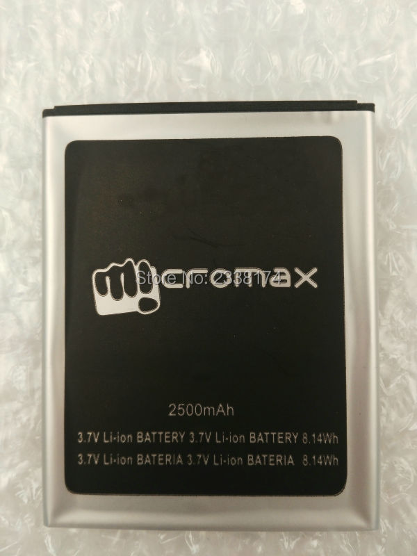 1pcs 100% High Quality A177 2000mAh Li-ion Battery For Micromax A177 Mobile phone Freeshipping + Tracking Code