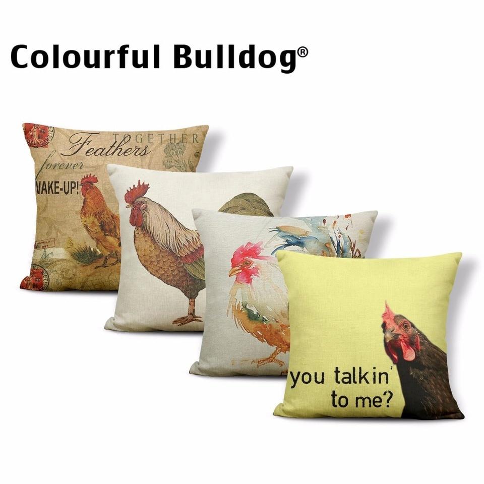 Pillowcase Pillow Easter Green//White Check 40x40cm. 1 Country House Nursing Pillow Case