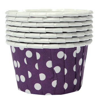 100X Cupcake Wrapper Paper Cake Case Baking Cups Liner Muffin Purple Cake Molds