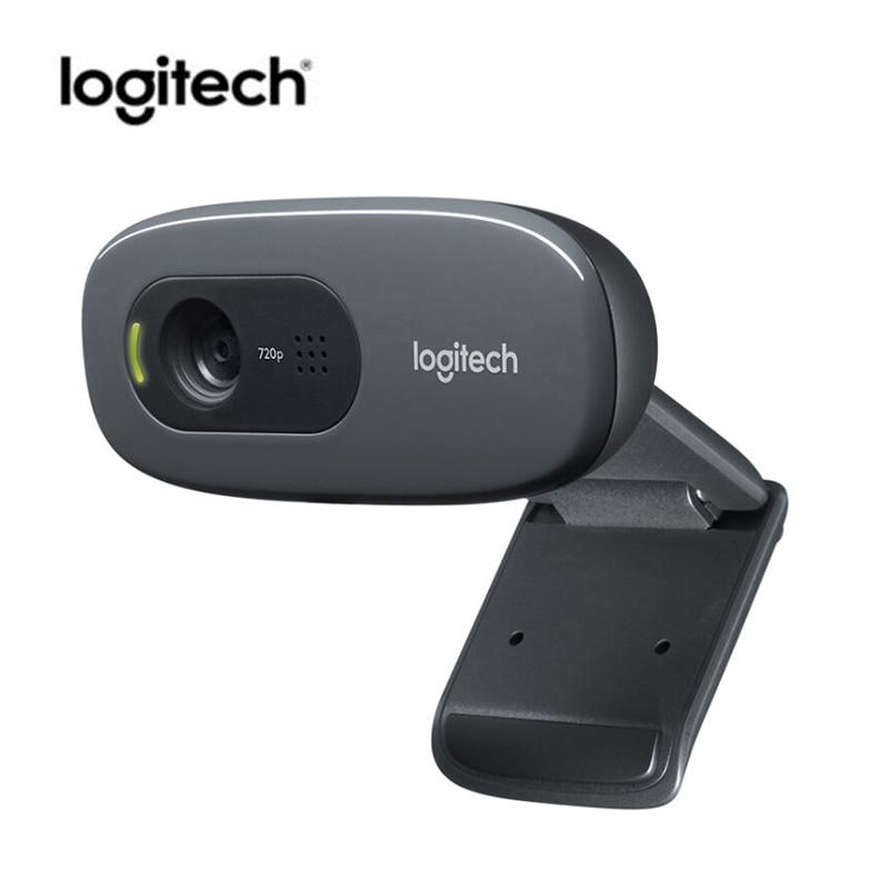 Logitech C270 мини веб-камера 720 P Камера USB веб-камера 3 мега HD видео веб-Камера