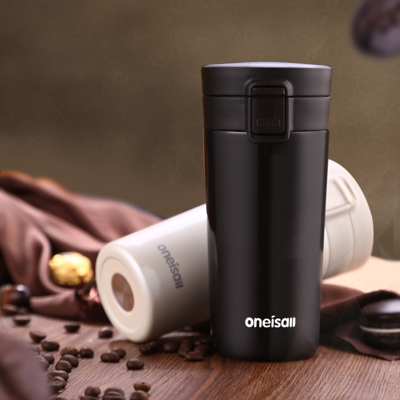 ba21e002507 Aliexpress.com : Buy ONEISALL Thermos Bottle Coffee Mugs 350ML 304  Stainless Steel Insulation With Lid Vacuum Flask Water Bottle Tea Mug from  Reliable mug ...