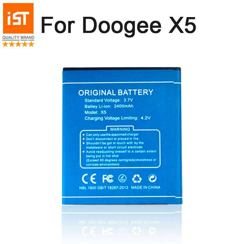2019 New 100% IST Original Mobile Phone Battery For Doogee X5 X5S X5 Pro High Quality Replacement Battery With Gift