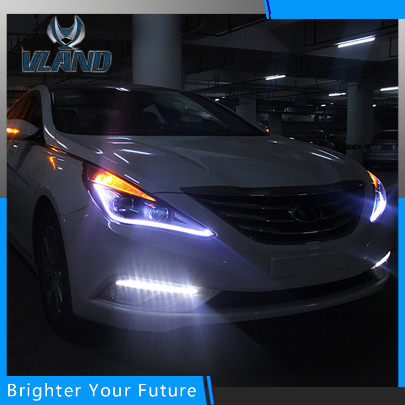 New Headlight Left Right Headlamp For Hyundai Sonata 8 Head LED light bar DRL 2011-2015 H7 Bi-xenon new headlight headlamp left right for hyundai sonata 8 head led light bar drl 2011 2015 h7 bi xenon