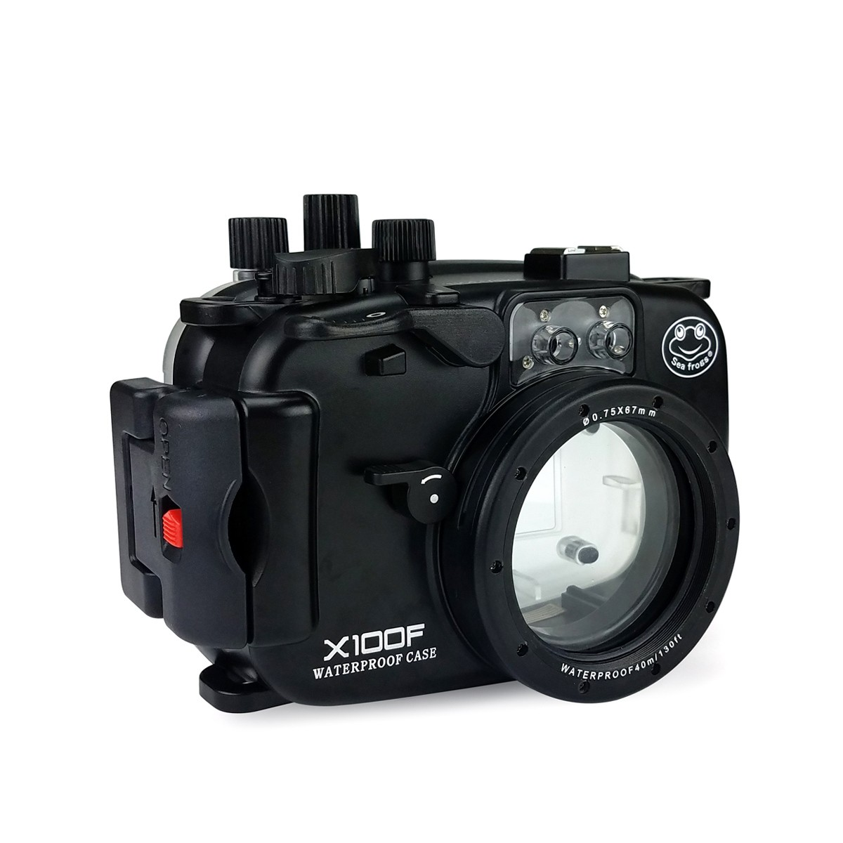 Boîtier de boîtier de caméra sous-marine 40 m/130ft pour appareil photo Fujifilm X100F caisson étanche de plongée pour Fuji X100F