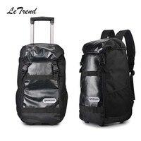 Letrend большая емкость многофункциональный дорожная сумка прокатки Чемодан Бизнес сумка тележка 20 дюймов нести на чемодане колеса