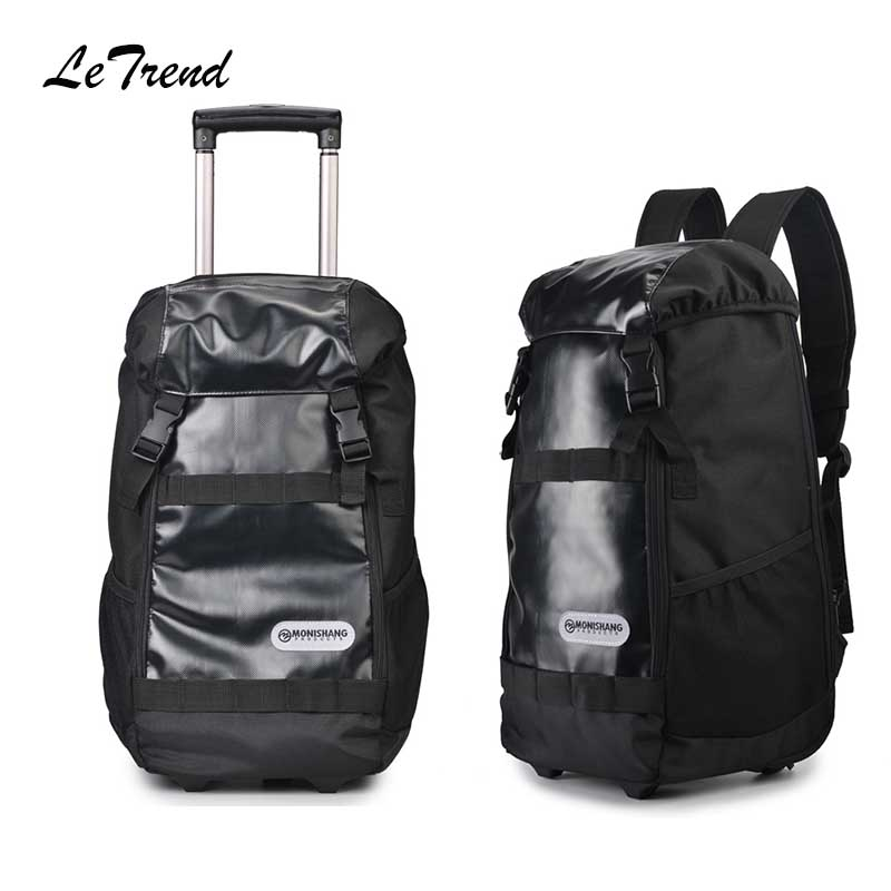 Letrend large capacity Multifunction Travel Bag Rolling Luggage Business Shoulder bag Trolley 20 inch Carry on Suitcase Wheels цена