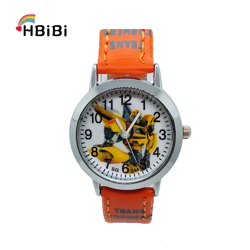 HBiBi Brand 3D Anime Robot Transformers Children Quartz Watch Fashion Crystal Waterproof Kids Watches For Boy Girl Student Clock