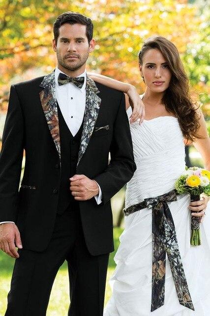 2017 China Online Store Men Suits Groom Tuxedos Black Groomsmen Wedding Dinner Suits Set Man Bridegroom (Jacket+Pants+Tie+Vest)