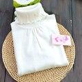 Contas das meninas do bebê camisola de Gola Alta camisola de malha de algodão